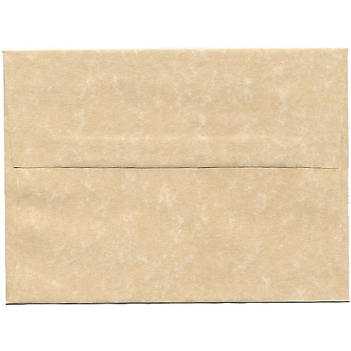 JAM Paper® A6 Parchment Invitation Envelopes, 4.75 x 6.5, Brown Recycled, 50/Pack (35220I)