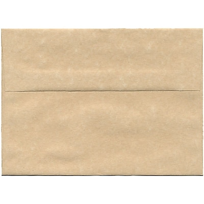 JAM Paper® A7 Invitation Envelopes, 5.25 x 7.25, Parchment Brown Recycled, 50/pack (35311I)