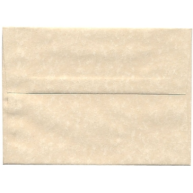 JAM Paper® A7 Invitation Envelopes, 5.25 x 7.25, Parchment Natural Recycled, 250/box (35394H)