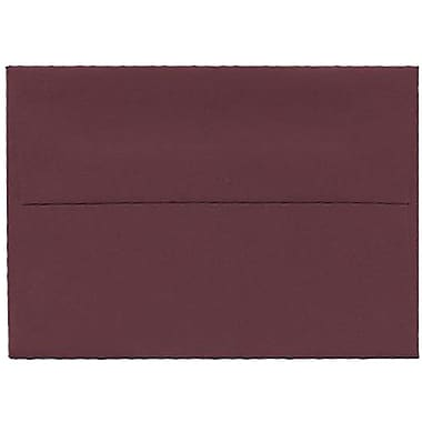 JAM Paper® 4bar A1 Envelopes, 3.63 x 5 1/8, Burgundy, 250/Pack (36395836H)
