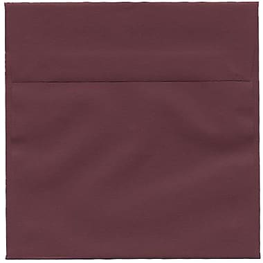 JAM Paper – Enveloppes simples carrées, 6 x 6 po, bourgogne, 250/paquet