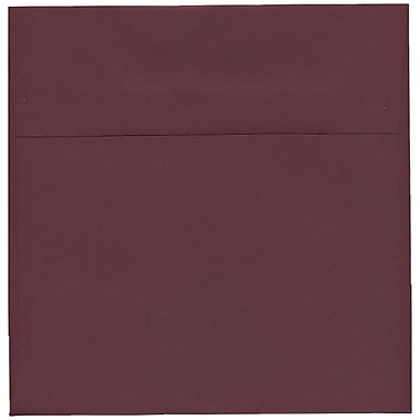 JAM Paper® 8.5 x 8.5 Square Envelopes, Burgundy, 250/Pack (36395841H)