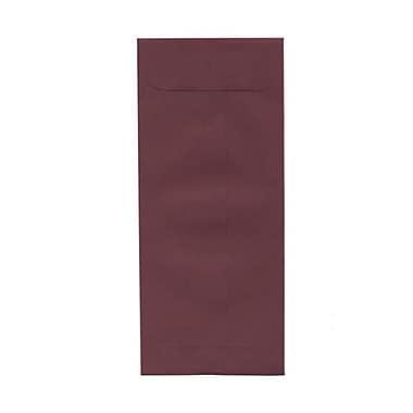 JAM Paper – Enveloppes commerciales nº 10 (4,13 x 9,5 po), bourgogne, paquet de 500