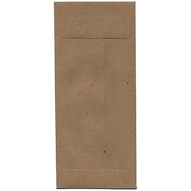 JAM Paper – Enveloppe commerciale nº 10 en papier recyclé (4,13 po x 9,5 po), papier kraft brun, 500/bte