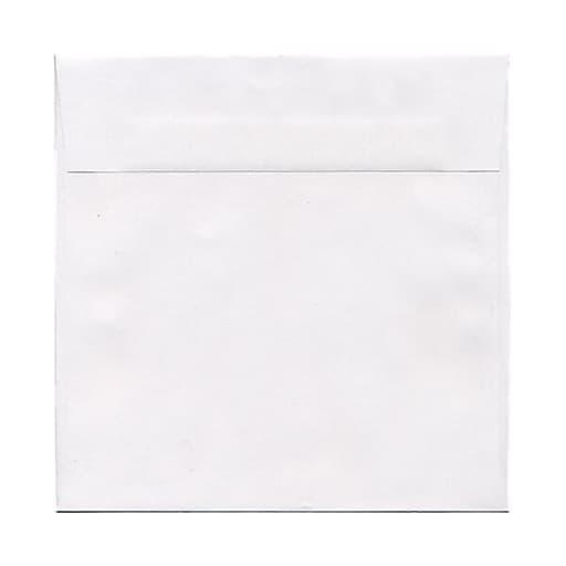 JAM Paper® 8 x 8 Square Invitation Envelopes, White, 50/Pack (3992315I)