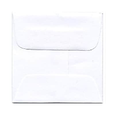 JAM Paper® 2 3/8 x 2 3/8 Mini Square Envelopes, White, 50/pack (3993004I)