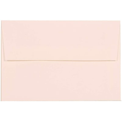 JAM Paper® A8 Invitation Envelopes, 5.5 x 8.125, Strathmore Bright White Via Linen Recycled, 50/pack (40934I)