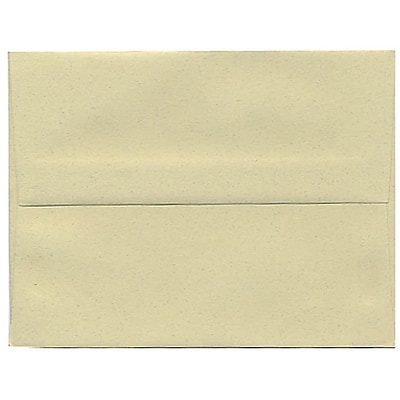 JAM Paper® A2 Invitation Envelopes, 4 3/8 x 5 3/4, Gypsum Recycled, 50/pack (41338I)