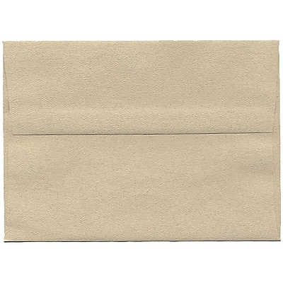 JAM Paper® A7 Invitation Envelopes, 5.25 x 7.25, Sandstone Ivory Recycled, 50/pack (41403I)