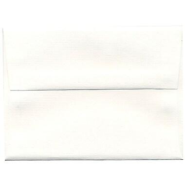 JAM Paper – Enveloppes Strathmore A6 en papier recyclé, blanc éclatant à rayures fines, 250/paquet