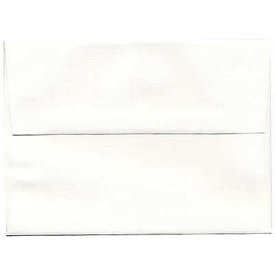 JAM Paper® A7 Invitation Envelopes, 5.25 x 7.25, Strathmore Bright White Pinstripe Recycled, 50/pack (43420I)