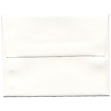 JAM Paper® A2 Invitation Envelopes, 4.38 x 5.75, Strathmore Bright White Pinstripe Recycled, 250/Pack (43432H)