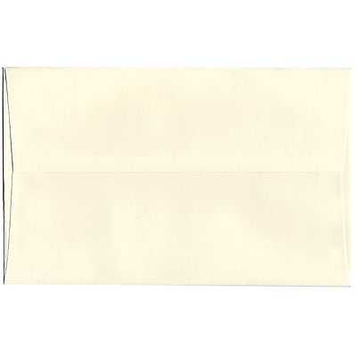 JAM Paper® A10 Invitation Envelopes, 6 x 9.5, Strathmore Natural White Pinstripe, 250/box (43445H)