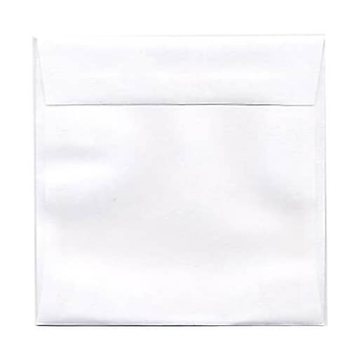 JAM Paper® 4.5 x 4.5 Square Invitation Envelopes, White, 50/Pack (439911145I)