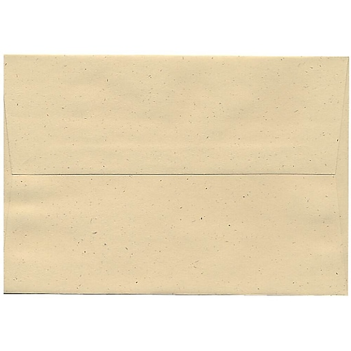 JAM Paper® A8 Invitation Envelopes, 5.5 x 8.125, Genesis Husk, Bulk 250/Box (44362H)