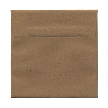 JAM Paper® 5.5 x 5.5 Square Envelopes, Brown Kraft Paper Bag Recycled, 50/Pack (46317108I)