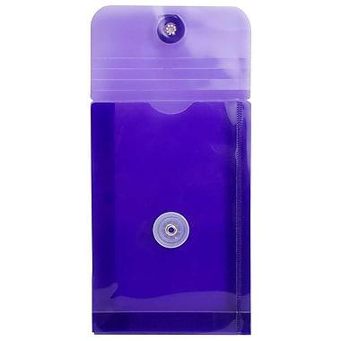 JAM Paper - Enveloppes en plastique avec fermeture à bouton et à ficelle, 4 1/4 x 6 1/4 po, lilas pourpre, paq./12