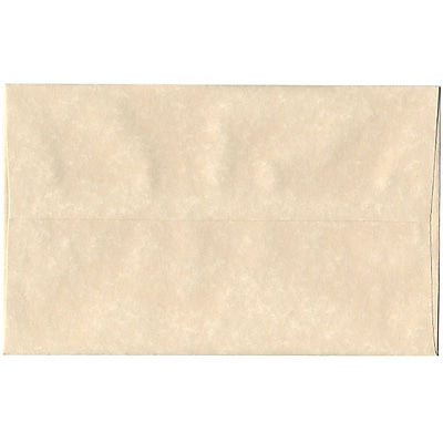 JAM Paper® A10 Invitation Envelopes, 6 x 9.5, Parchment Natural Recycled, 50/pack (47876I)