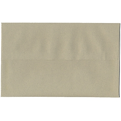 JAM Paper® A10 Invitation Envelopes, 6 x 9.5, Sage Green Recycled, 50/pack (49008I)