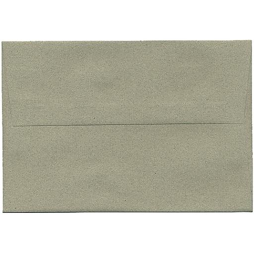 JAM Paper® A8 Passport Invitation Envelopes, 5.5 x 8.125, Sage Green Recycled, Bulk 250/Box (49181H)