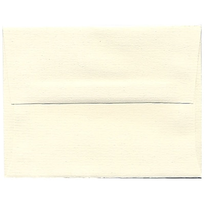 JAM Paper® A2 Invitation Envelopes, 4 3/8 x 5 3/4, Strathmore Natural White Pinstripe, 250/box (50170H)