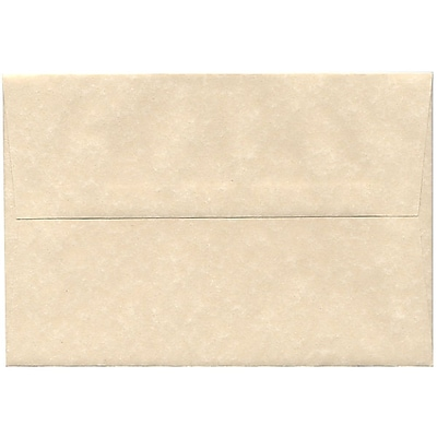 JAM Paper® A8 Invitation Envelopes, 5.5 x 8.125, Parchment Natural Recycled, 50/pack (5029I)