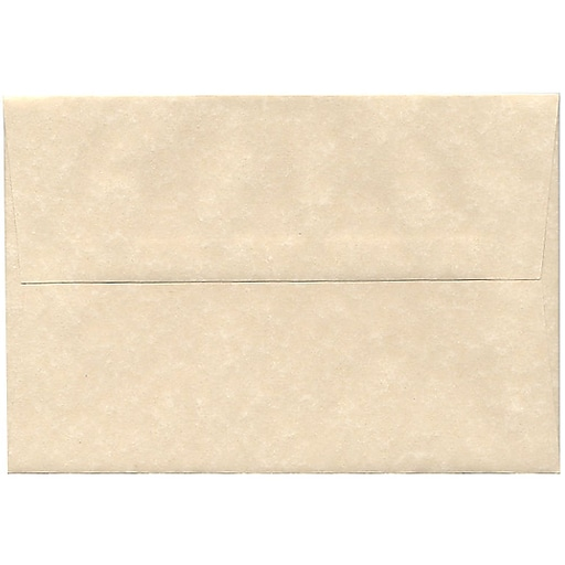 JAM Paper® A8 Parchment Invitation Envelopes, 5.5 x 8.125, Natural Recycled, 50/Pack (5029I)