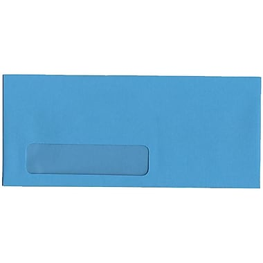 JAM Paper® #10 Window Envelopes, 4 1/8 x 9.5, Brite Hue Blue Recycled, 500/Pack (5156476H)