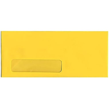 JAM Paper® #10 Window Envelopes, 4 1/8 x 9.5, Brite Hue Yellow Recycled, 500/Pack (5156482H)
