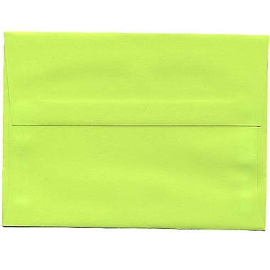 JAM Paper® A6 Invitation Envelopes, 4.75 x 6.5, Brite Hue Ultra Lime Green, 250/Pack (52610H)