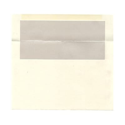 JAM Paper® A9 Foil Lined Envelopes, 5.75 x 8.75, Ivory with Ivory Lining, 250/box (532412544H)