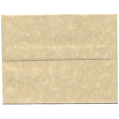 JAM Paper® A2 Invitation Envelopes, 4 3/8 x 5 3/4, Parchment Brown Recycled, 50/pack (53447I)