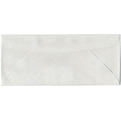 JAM Paper® #10 Business Envelopes, 4 1/8 x 9 1/2, Pumice White Recycled, 500/box (54041H)