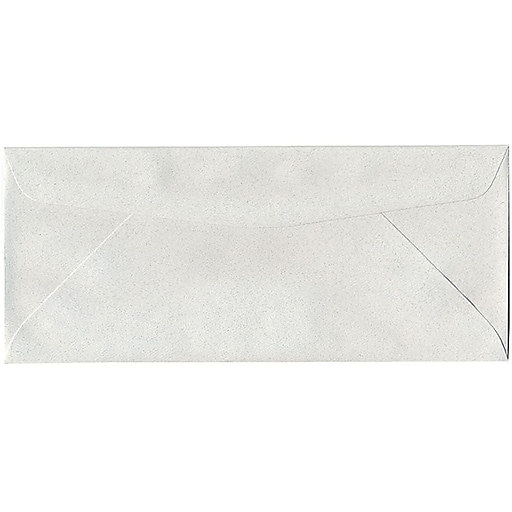 JAM Paper® #10 Business Envelopes, 4 1/8 x 9 1/2, Pumice White Recycled, 50/pack (54041I)
