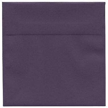 JAM Paper® 6 x 6 Square Envelopes, Dark Purple, 50/Pack (563912522I)