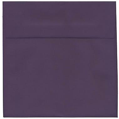 JAM Paper – Enveloppes Dark Base, 8,5 x 8,5 po, violet foncé, 50/paquet