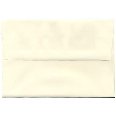 JAM Paper – Enveloppes Strathmore A8, papier recyclé, fini toilé blanc naturel, 250/paquet