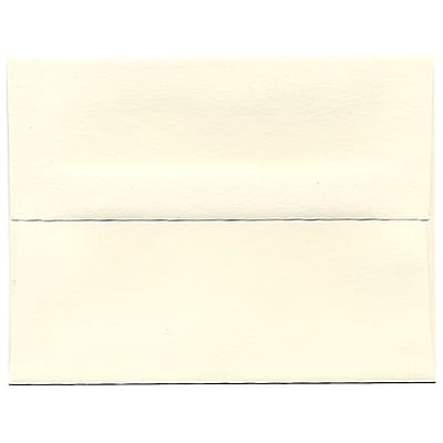 JAM Paper® A2 Invitation Envelopes, 4 3/8 x 5 3/4, Strathmore Natural White Wove, 50/pack (5TTW613I)