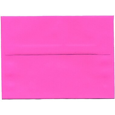 JAM Paper® A6 Invitation Envelopes, 4.75 x 6.5, Brite Hue Ultra Fuchsia Pink, 250/Pack (60574H)