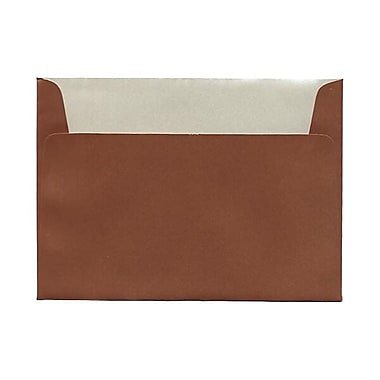 JAM Paper® A7 Foil Lined Envelopes, 5.25 x 7.25, Copper Metallic with Opal Lining, 50pack (6186533I)
