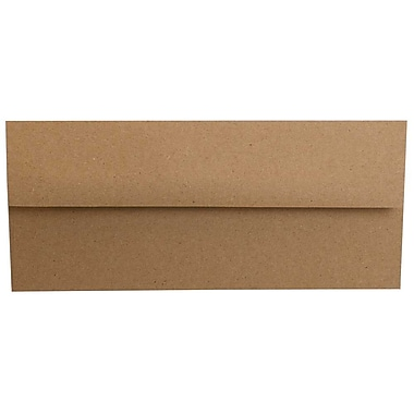 JAM Paper® #10 Business Envelopes, 4 1/8 x 9.5, Brown Kraft Paper Bag Recycled, 500/Pack (6314842H)