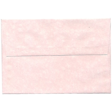 JAM Paper® A8 Invitation Envelopes, 5.5 x 8.125, Parchment Pink Recycled, 50/pack (63750I)