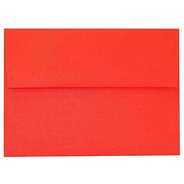 JAM Paper® A6 Invitation Envelopes, 4.75 x 6.5, Brite Hue Red Recycled, 250/Pack (67503H)