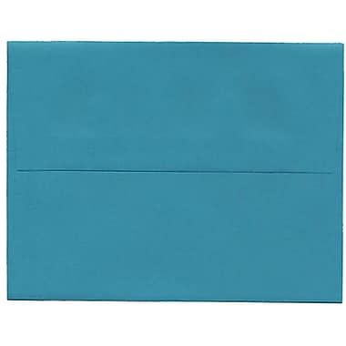 JAM Paper® A2 Invitation Envelopes, 4.38 x 5.75, Brite Hue Sea Blue Recycled, 250/Pack (70207H)