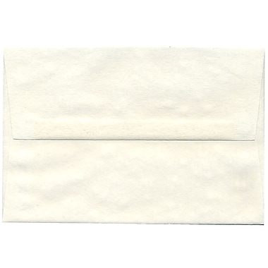 JAM Paper® A8 Invitation Envelopes, 5.5 x 8.125, Parchment White Recycled, 50/pack (70431I)
