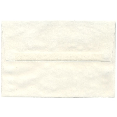 JAM Paper® A8 Invitation Envelopes, 5.5 x 8.125, Parchment White Recycled, 250/box (70431H)