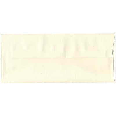 JAM Paper® #10 Business Envelopes, 4 1/8 x 9 1/2, Strathmore Natural White Laid, 50/pack (70746I)