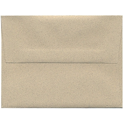 JAM Paper® A2 Invitation Envelopes, 4 3/8 x 5 3/4, Sandstone Ivory Recycled, 50/pack (71144I)