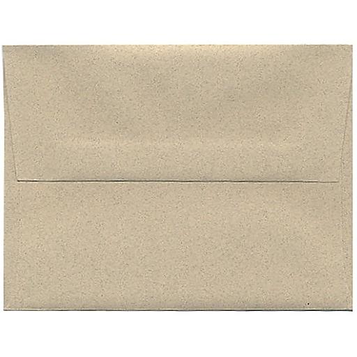 JAM Paper® A2 Passport Invitation Envelopes, 4.375 x 5.75, Sandstone Brown Recycled, Bulk 250/Box (71144H)