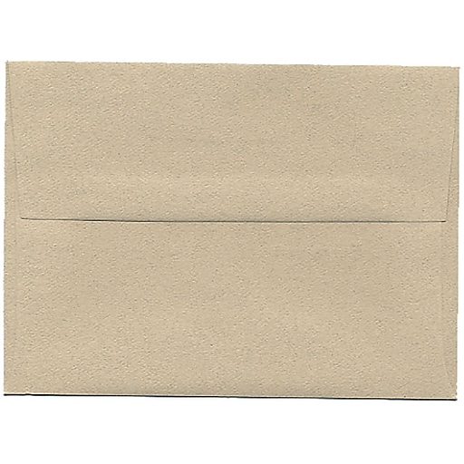 JAM Paper® A6 Passport Invitation Envelopes, 4.75 x 6.5, Sandstone Brown Recycled, 50/Pack (71201I)